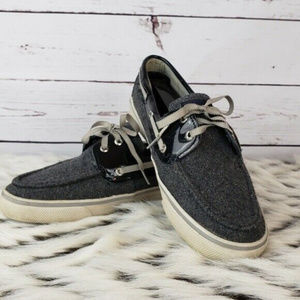 Sperry Boat Shoes Size 7 Women's Flat Shoes Gray